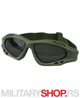 Zaštitne naočare za airsoft zelene KombatUK