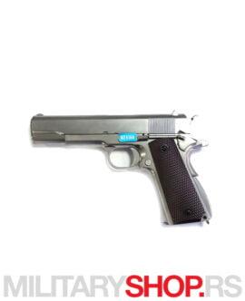 Airsoft pištolj WE Colt 1911 Mat Hrom