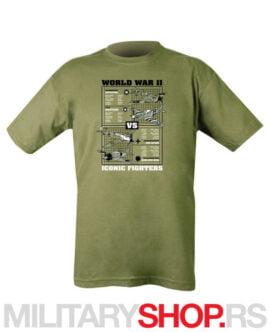 Bombarderi II svetskog rata olive majica KombatUK