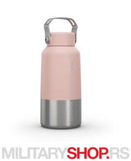 Mala nerđajuća boca roze Quechua 0.6l