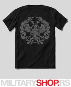 Dvoglavi orao sa vitezom crna majica