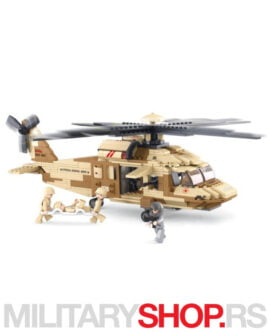 Vojni helikopter igračka Suban B0509 Black Hawk