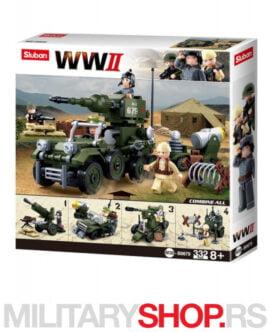 Drugi svetski rat set kockica Sluban B0679