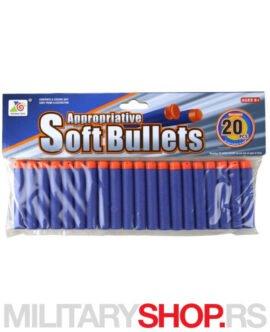 Sunđerasti metkići Soft Bullet Darts 20