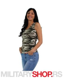 Ženska maskirna majica na bretele Urban