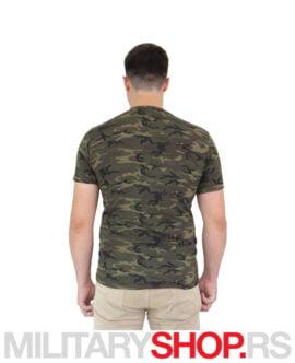 Maskirna majica šumska šara Woodland Camo