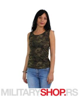 Majica ženska na bretele Woodland maskirna