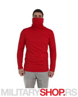 Majica sa visokom kragnom crvene boje