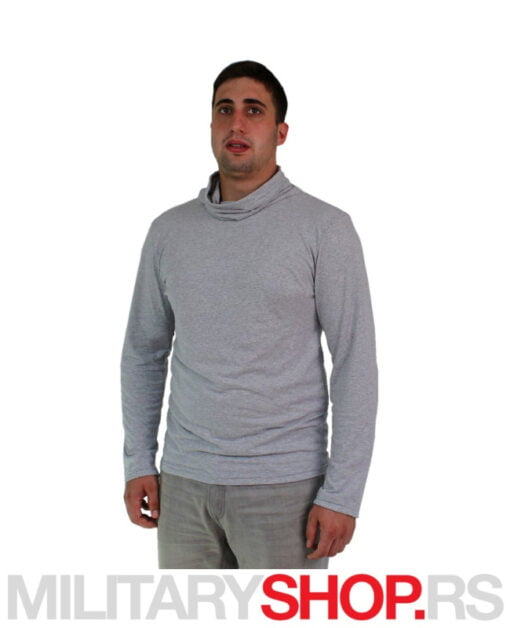 Majica sa visokim okovratnikom sive boje