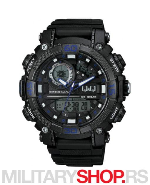 Crno-plavi sportski ručni sat GW87J012Y